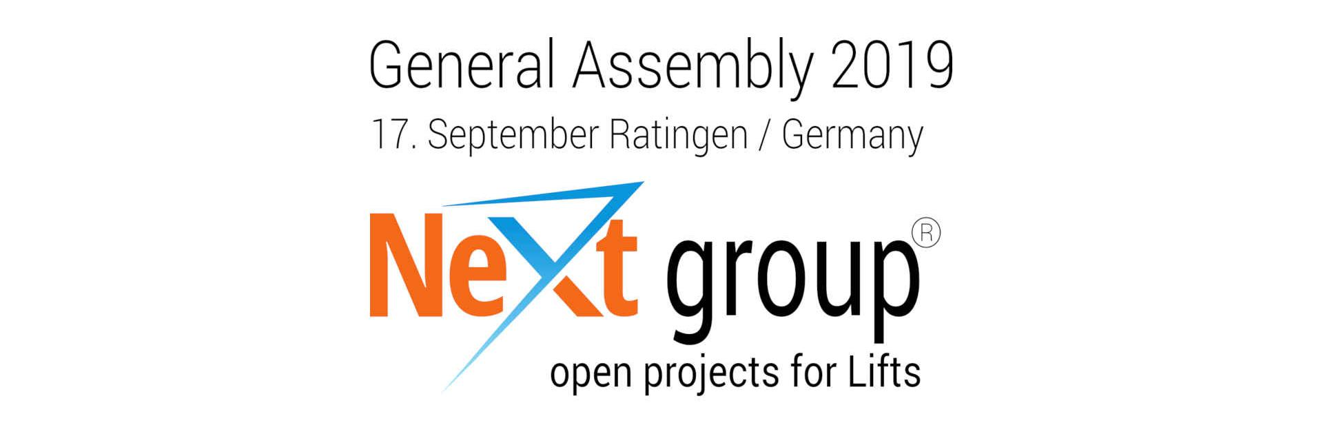 NeXt group General Assembly 2019
