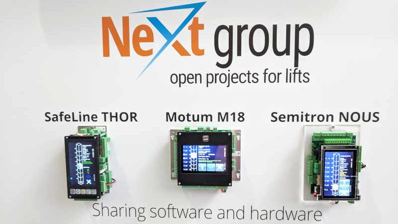 NeXt group open hardware at Interlift2019